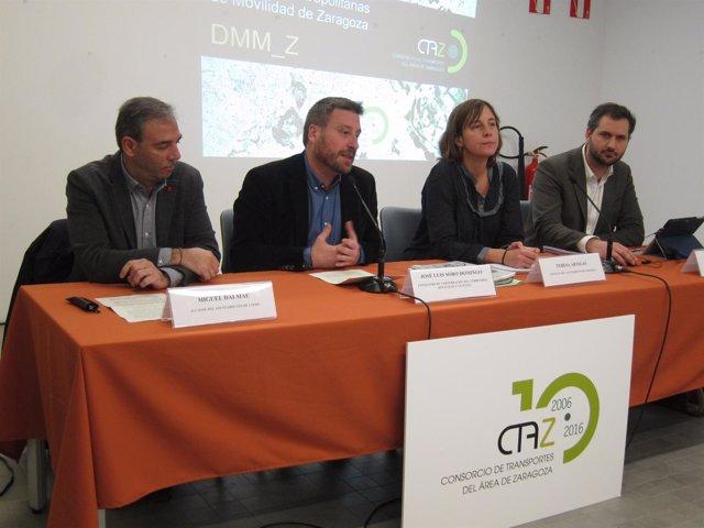 Dalmau, Soro, Artigas y Ortiz en la presentación de las directrices del CTAZ
