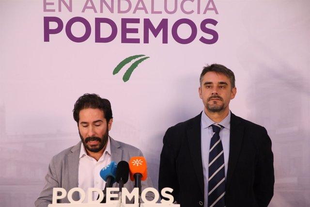 Los parlamentarios de Podemos Juan Ignacio Moreno Yagüe y David Moscoso