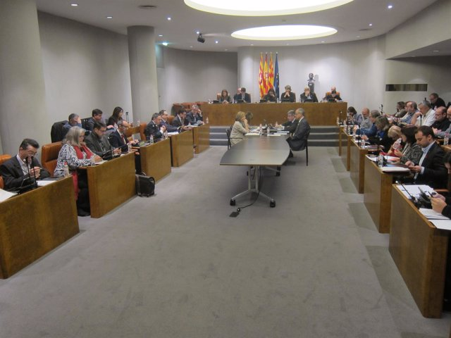Pleno extraordinario de la Diputación de Barcelona