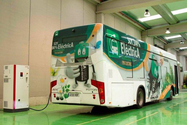 Cargador de autobús eléctrico