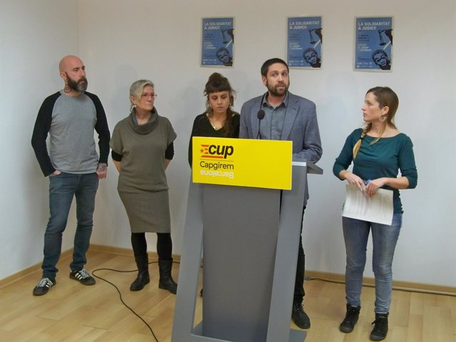 J.Garganté, M.J.Lecha, M.Rovira, E.Vilajoliu y E.Cáliz (CUP)