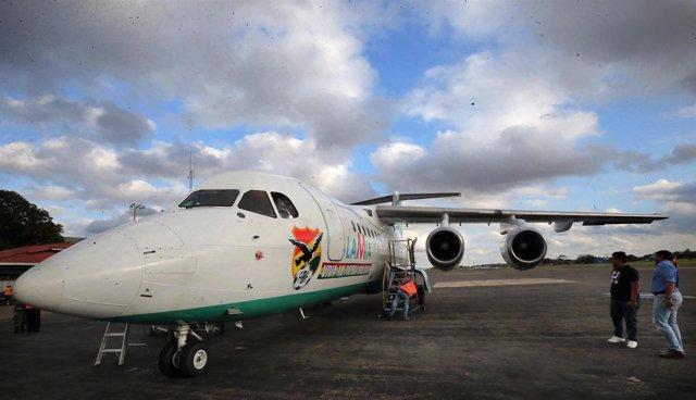 Avión de la aerolínea Lamia