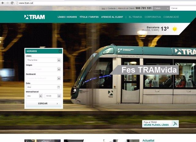 Nueva web del Tram