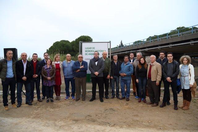 El Ayuntamiento Palaciego Inaugura La Señal Indicativa De El Canal De Los Presos