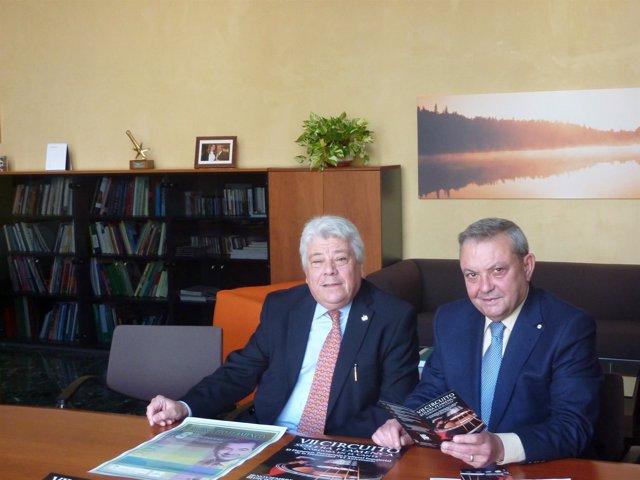 Carmona y Alcalde en la presentación
