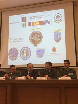 La Guardia Civil informa en Italia de una operación en el Mediterráneo