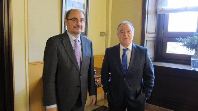 Javier Lambán y Miguel Gracia