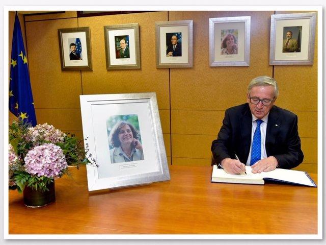 Homenaje de Juncker a Loyola de Palacio en el décimo aniversario de su muerte