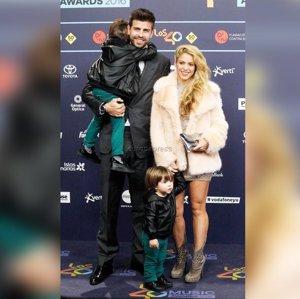 Shakira, Piqué y sus dos hijos, protagonistas absolutos de Los40 Music Awards