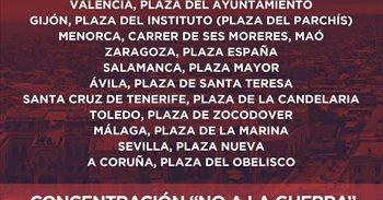 Convocatoria por la paz en Siria en 13 ciudades españolas el próximo 12...