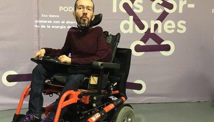 """Echenique dice que PSOE se ha puesto un """"precio muy bajo y limitado"""" para """"rendirse"""" al PP"""