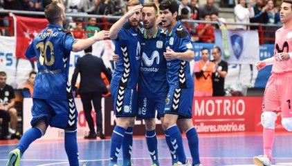 Movistar Inter asalta el liderato con una goleada ante Santiago Futsal