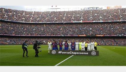 Barcelona y Real Madrid guardan un minuto de silencio por el Chapecoense