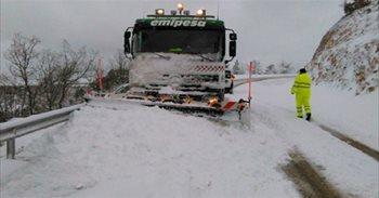 Junta tiene preparado el dispositivo contra nieve y hielo en carreteras...