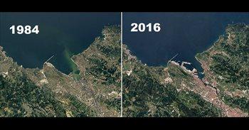 Así se ve desde el espacio cómo ha cambiado España los últimos 30 años