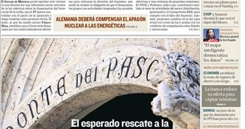Las portadas de los periódicos económicos de hoy, miércoles 7 de diciembre