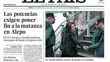 Las portadas de los periódicos de hoy, jueves 8 de diciembre de 2016
