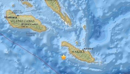 Alerta de tsunami en el Pacífico por un fuerte terremoto en las Islas Salomón
