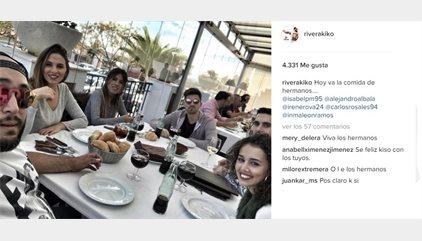 Kiko Rivera y Chabelita sellan la paz con una 'comida de hermanos'
