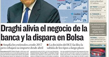 Las portadas de los periódicos económicos de hoy, viernes 9 de diciembre