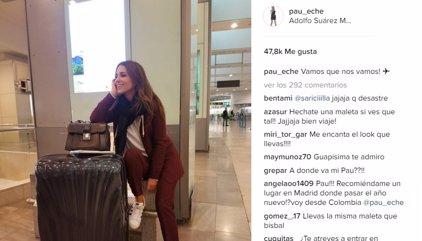 Paula Echevarría cambia el frío de Madrid por el sol de Tenerife