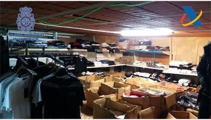 71 detenidos en la mayor operación en España contra delitos de propiedad industrial