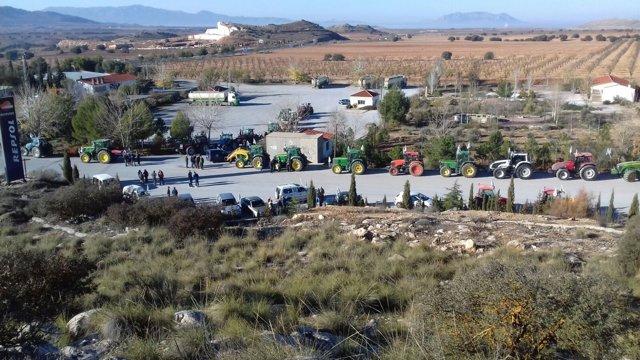 La 39 tractorada 39 de upa concentra a 400 veh culos en la a for Tractores en almeria