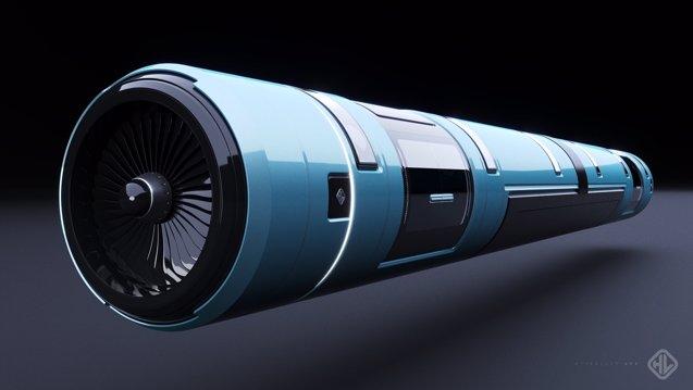 """Foto: Crean un """"tren de futuro"""" que puede alcanzar los 1.000 kilómetros por hora (HYPERLOOP)"""