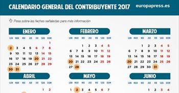 Hacienda publica el calendario del contribuyente 2017: desaparece el...