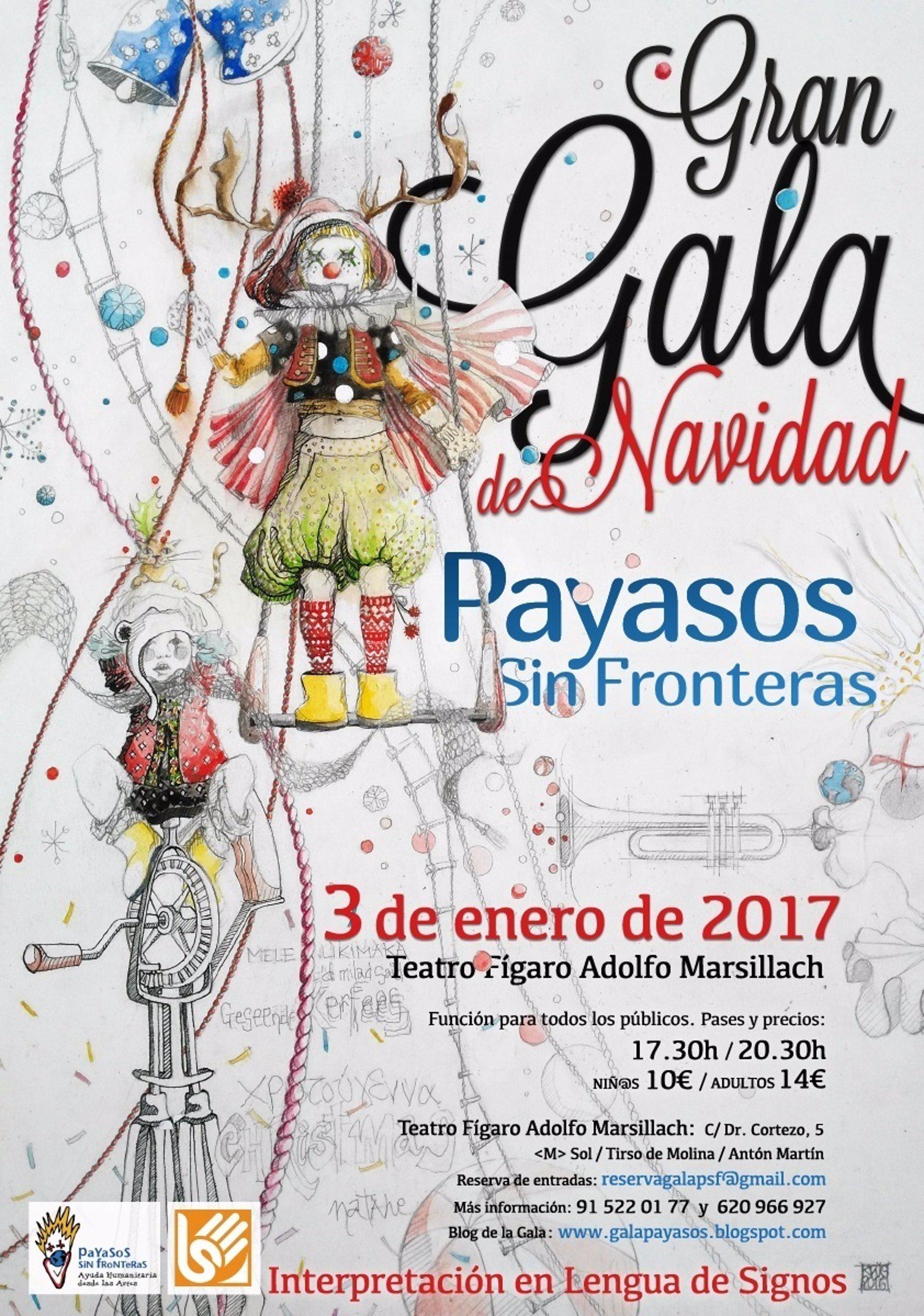 Payasos sin fronteras celebrar su gran gala de navidad el for Teatro figaro adolfo marsillach