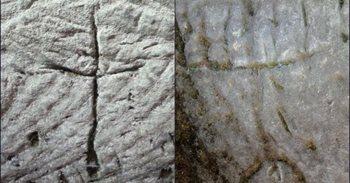 Una cruz y un menorá grabados hace 2.000 años aparecen en una cueva