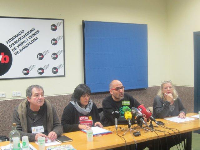 X.Massó (Aspepc), M.Tejedor (CCOO), R.Font (Ustec) y L.Martí (UGT)