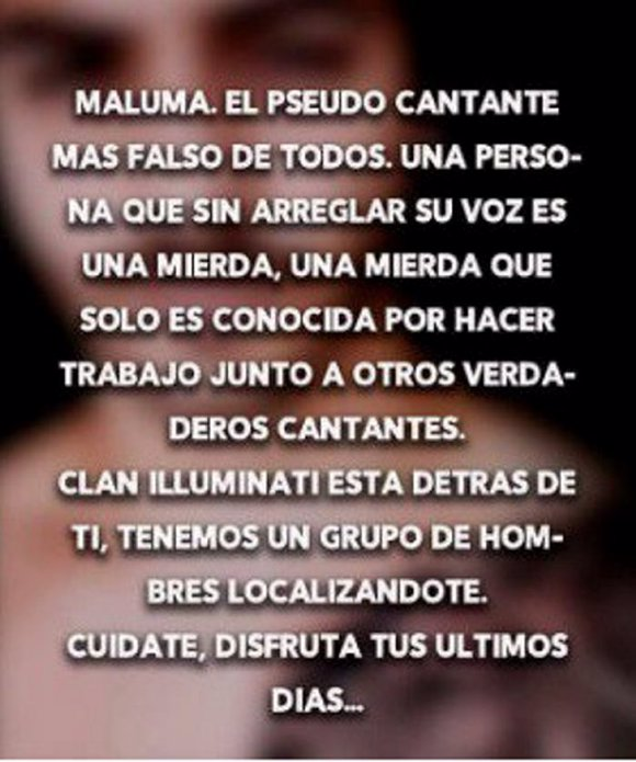 Amenazas a Maluma