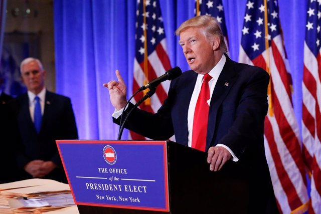 Donald Trump en rueda de prensa