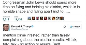 Trump reprende por Twitter a un héroe de los derechos civiles durante la...