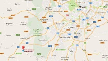 Mueren dos hombres tras estrellarse una avioneta en Casarrubios del Monte (Toledo)