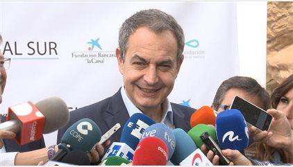 """Zapatero respeta la candidatura de López, pero admite que todos """"intuyen"""" lo que piensa de Susana Díaz"""