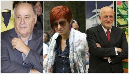 Amancio Ortega, su hija Sandra y Juan Roig poseen la misma riqueza que el 30% más pobre, según Intermón Oxfam