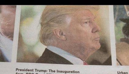 La guía de TV del 'Sunday Herald' describe la toma de posesión de Trump como un capítulo de ciencia ficción