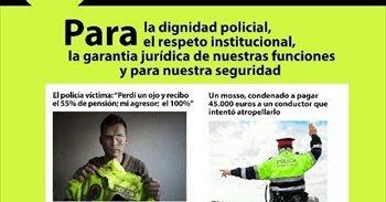 Policías de varios cuerpos se manifestarán en Barcelona para pedir...