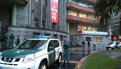 La Guardia Civil registra la sede de UGT en Asturias
