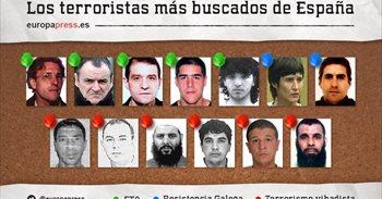 Estos son los terroristas más buscados de España