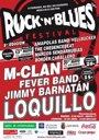 Foto: Loquillo, M Clan y Jimmy Barnatán, en el Rock n' Blues Festival de Don Benito (Badajoz)