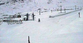 Alto Campoo supera los siete grados bajo cero