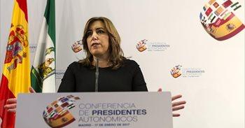 """Susana Díaz, sobre el tuit del PP de Madrid: """"No estoy para tonterías"""""""