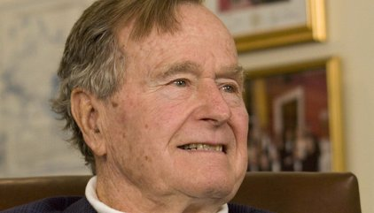Hospitalizado en Houston el expresidente de EEUU George H.W. Bush