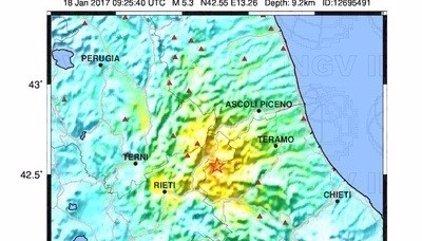El centro de Italia, golpeado por una cadena de seísmos de hasta 5,4 de magnitud