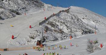Las Estaciones de Esquí de León reciben más de 600 esquiadores durante el...