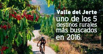 El Valle del Jerte (Cáceres), quinto destino rural más buscado de España...