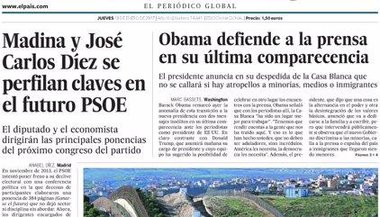 Las portadas de los periódicos de hoy, jueves 19 de enero de 2017